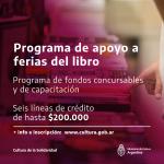 Cultura de Nación lanza línea de apoyo a Ferias del Libro de todo el país