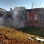 Bomberos sofocaron incendio en una vivienda del barrio Villa Stemberg