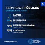 Servicios públicos municipales para el 9 de Julio