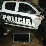 Policías recuperaron un televisor que fue robado de un departamento y vendido