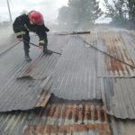 El fuego consumió parte de una vivienda en el barrio de Cien Hectáreas