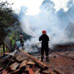 Un incendio consumió por completo una vivienda en Alberdi