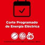Corte programado de Energía Eléctrica de la Empresa EMSA