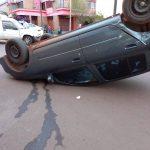 Siniestro vial en Oberá dejó solo daños materiales