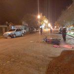 Colisión entre un vehículo y una motocicleta dejó una joven lesionada