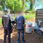 Arrestaron a un joven acusado de robarle el lavarropas a un vecino del barrio Villa Cristian en Oberá