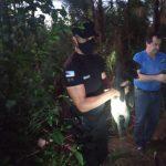 Policías y Bomberos rescataron a un perro que cayó a un pozo