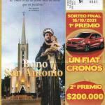 Números ganadores del sorteo estímulo del Bono San Antonio