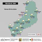 Pronóstico del tiempo para el fin de semana