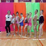 Jóvenes obereñas en el Nacional de Gimnasia en Buenos Aires
