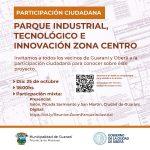 Parque Industrial Zona Centro: Participación ciudadana
